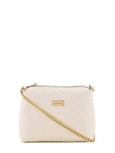 Women White Sling bag - MANERAA