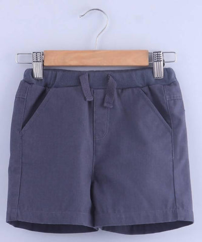 Beebay Grey Pull-Up Bermuda Shorts - MANERAA