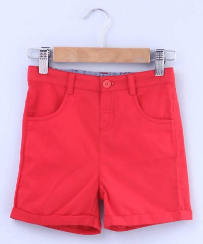 Beebay Red Bermuda Shorts - MANERAA