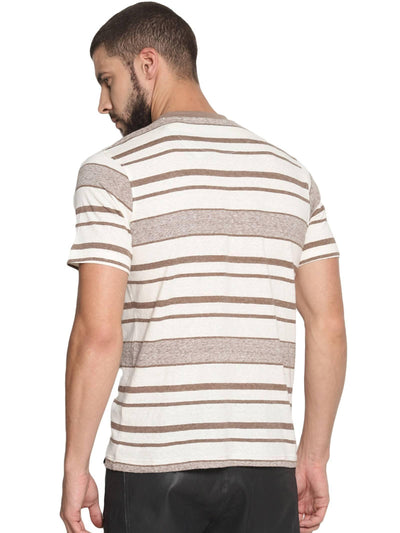 Brown Colour Round Neck Half Slevee T-shirts - MANERAA