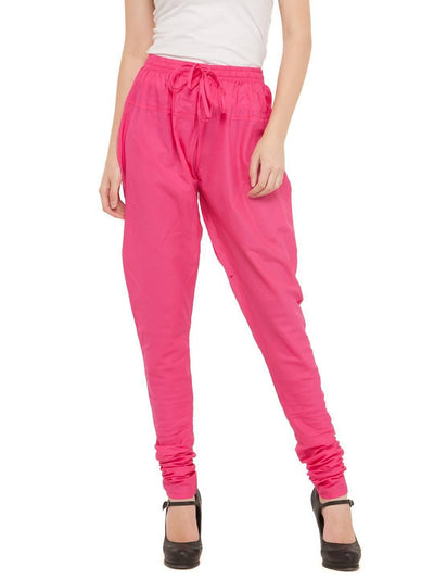 Women Cotton Pink Churidar - MANERAA