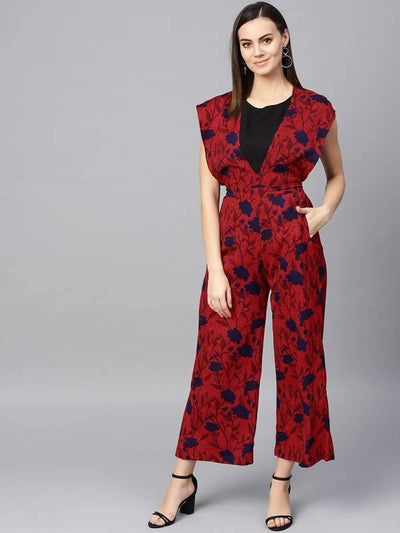Women's Floral Printed Jumpsuit - MANERAA
