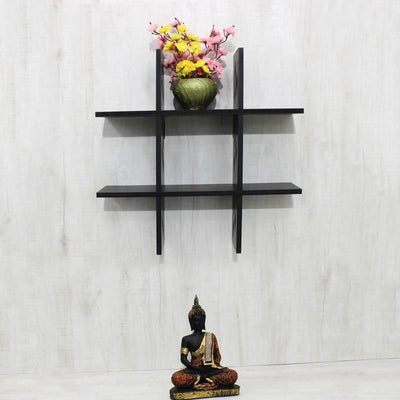Wall Shelf TUFF - 5 Plates Bow Plain (Black) - MANERAA