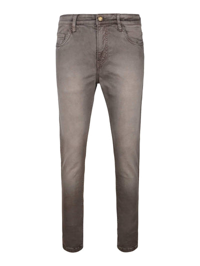 Brown Colour Slim Fit Mid Rise Streatch Jeans - MANERAA