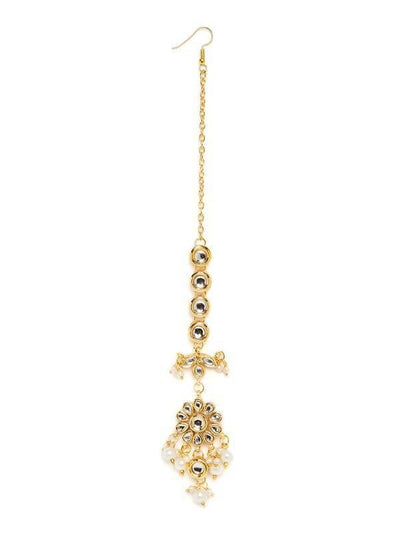 Kundan Maang Tika Artificial Fashion Jewellery For Women Gold Color - MANERAA