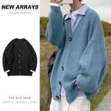 2020 Men's Casual Clothing Woollen Cardigan Homme Fashion Cashmere Sweater Loose Male Coats Solid Color Knitting Plus Size M-2XL