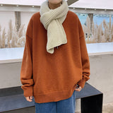2020 Men's Loose Casual Round Neck Coats Solid Color Pullover Long Sleeve Cashmere Knitting 7-color Homme Wool Sweaters M-5XL