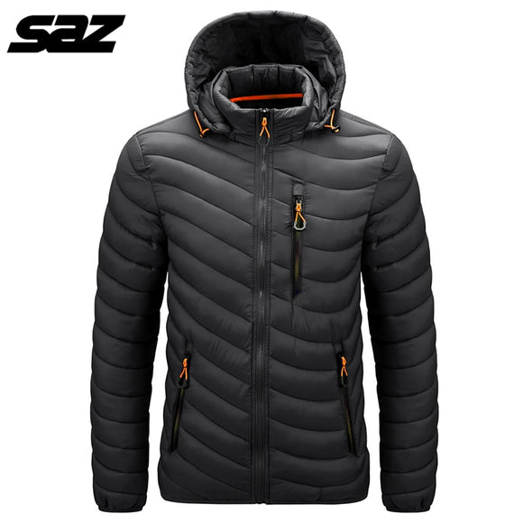 2020 New Saz Mens Down Jacket Unisex Ultra Light Down Jacket Men Windbreaker Feather Jacket Women Warm Coat