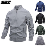 Saz Mens Fashion Jackets and Coats New Men's Windbreaker Bomber Jacket 2020 Autumn Men Army Cargo Outdoors Clothes Casual Street