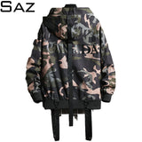Saz Spring Autumn Mens Casual Camouflage Hoodie Jacket Mens Waterproof Clothes Windbreaker Coat Male Outwear For Men