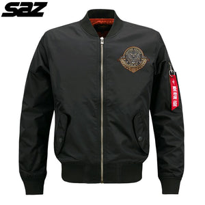 Saz Spring Autumn Military tactical Male Army Flight Bomber Jacket Men Baseball Varsity College Pilot Air Force Waterproof Coat