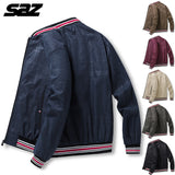 Saz Mens New Jackets Casual Plus velvet Male Windbreakers College Bomber Black Windcheater Hommes Varsity Jacket