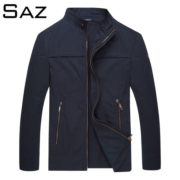 Saz Mens Spring Summer Fashion Jackets Casual Thin Male Windbreakers College Bomber Black Windcheater Hommes Varsity Jacket
