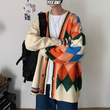 2020 Men's Casual V-neck Cardigan Fashion Coats Long Sleeves Cashmere Sweater Homme Keep Warm Clothes Wool Knitting Size M-2XL