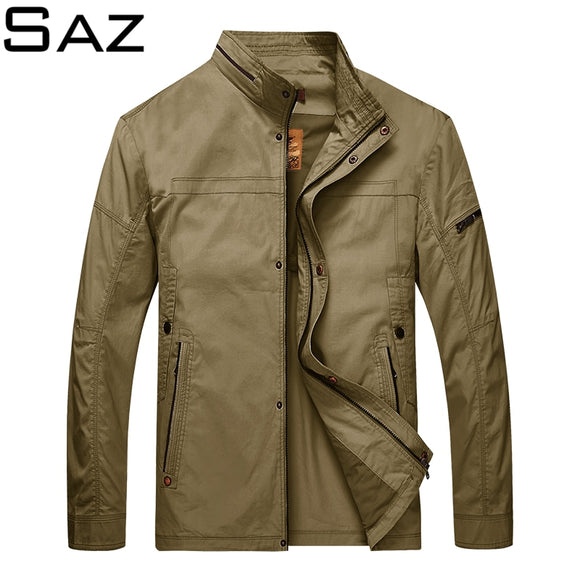 Saz New Fashion Jacket Men Fashion Casual Loose Mens Jacket Sportswear outdoors top coat Mens jackets and Coats