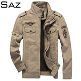 Saz Men Bomber Flight Pilot Jacket Men Casual Jacket Pilot Air Force Male Army Military Motorcycle race coats
