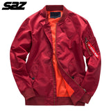Saz Military tactical Male Army Flight Bomber Jacket Baseball Varsity College Pilot Air Force Waterproof Coat For Men