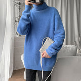2020 Winter Men's High Collar Knitting Wool Sweaters Fabric Slim Fit Pullover Homme Cashmere Turtleneck Clothes Coats M-3XL