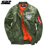 Saz 2020 High quality thin Army Green Military motorcycle Ma-1 aviator pilot men bomber jacket Mens Casual Jacket coat