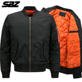 Saz Winter Military Tactical Men Army Flight Bomber Jacket Baseball Varsity College Pilot Air Force Thick Warm Coat for Men