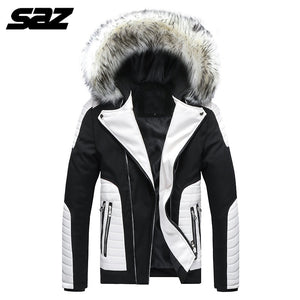 Men Winter Large size loose coat Jacket Men Hooded  Down Jacket Male Windproof Parka Thick Warm Overcoat coats Removable hat