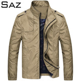 Saz New Men Jacket Coats Casual Solid Color Jackets Stand Collar Men Business Jacket