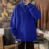 2020 Men's Solid Color Coats Loose Cashmere Sweater Fashion Casual Knitting Male Pullover Keep Warm Turtleneck Large Size M-5XL