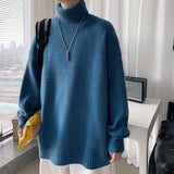 2020 Winter Men's Fashion Cashmere Sweaters Casual Solid Color Wool Turtleneck Clothes Homme Pullover Long Sleeves Coats M-2XL