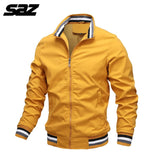 Saz Mens Spring Autumn Jackets Casual Thin Male Windbreakers College Bomber Black Windcheater Hommes Varsity Jacket