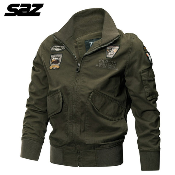 Autumn Men's Military tactical Male Army Flight Bomber Jacket Baseball Varsity College Pilot Air Force Waterproof Coat For Men