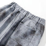 Aolamegs Pants Men Tie Dye Distressed Print Loose Cozy Elastic Waist Trousers Gothic Vintage High Street Harajuku Streetwear Men