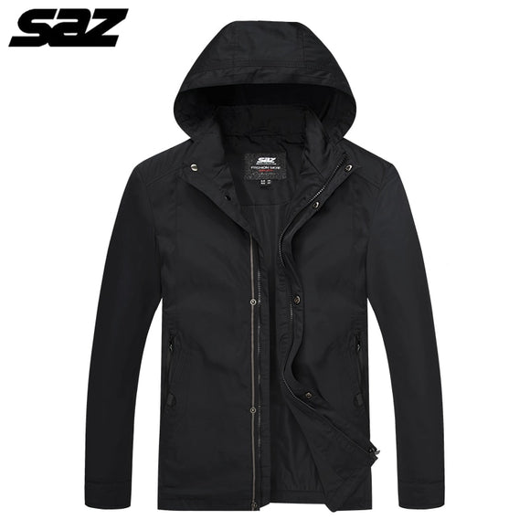 Saz Spring Autumn Men Fashion Casual Jacket Coats Male High Quality Bomber Jacket Mens Overcoat