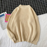 2020 Men's Solid Color Thick Wool Sweaters Loose Clothes Cashmere Pullover Keep Warm Coats 13 Color Knitting Plus Size M-3XL