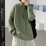 2020 Winter Men's Loose Casual Coat Long Sleeves Pullover Male Thickened Cashmere Sweaters Clothes 5-color Wool Turtleneck M-3XL