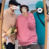 2020 Winter Men's Eight-color Clothes Coats Solid Color Pullover Homme Loose Wool Sweater Keep Warm Cashmere Turtleneck M-2XL