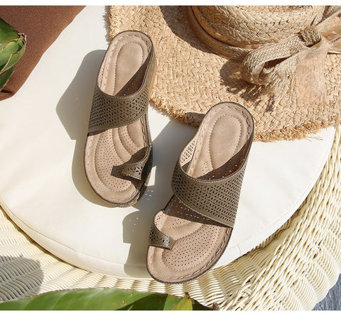 Arch Support Flip Flops Orthopedic Sandals for Women