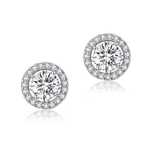 1 Carat Moissanite Diamond 4 Claws Stud Earrings 925 Sterling Silver MFE8187