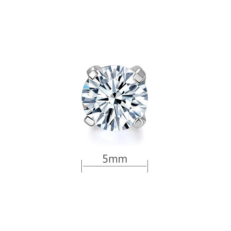 0.5 Carat Moissanite Diamond Earring (1 Piece) Unisex 925 Sterling Silver MFE8188