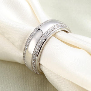Men's Wedding Band Solid Sterling 925 Silver Ring XFR8052