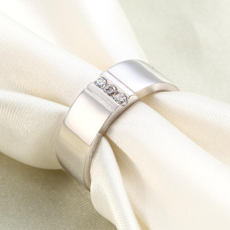 Men's Wedding Band Solid Sterling 925 Silver Ring XFR8054