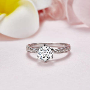 1 Carat Moissanite Diamond Ring Engagement 925 Sterling Silver MFR8344