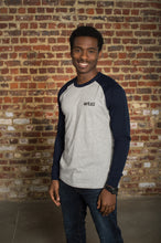 Load image into Gallery viewer, T-Shirt long sleeve ART23 H Grey & French Navy Blue