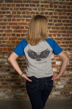 Load image into Gallery viewer, T-Shirt short-sleeved Eagle Grey & Royal blue