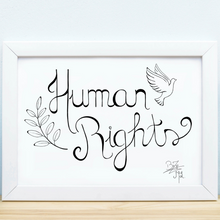 Afbeelding in Gallery-weergave laden, T-Shirt 3/4 mouwen Human rights