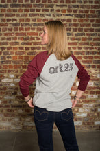Load image into Gallery viewer, T-Shirt long sleeve ART23 H Grey & Burgundy