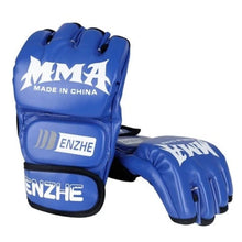 Load image into Gallery viewer, MMA Gloves, Half-Finger Boxing Fight Gloves with Adjustable Wrist Band 5 colors