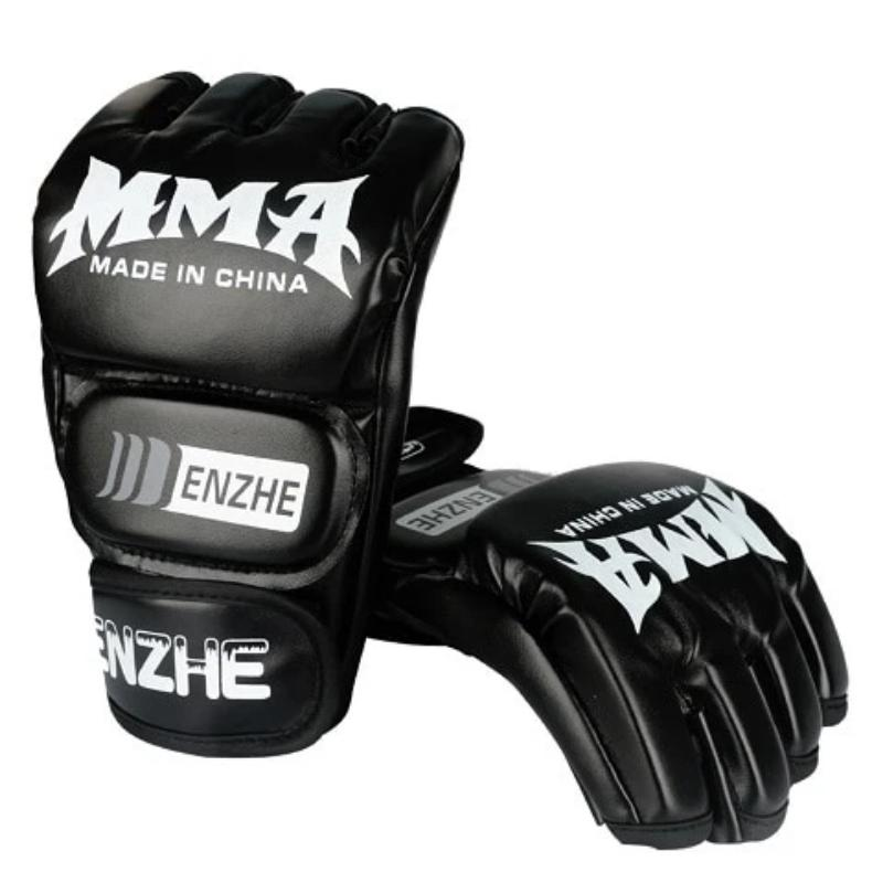 MMA Gloves, Half-Finger Boxing Fight Gloves with Adjustable Wrist Band 5 colors