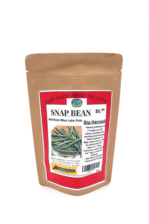 Snap Bean Heirloom Blue Lake Pole