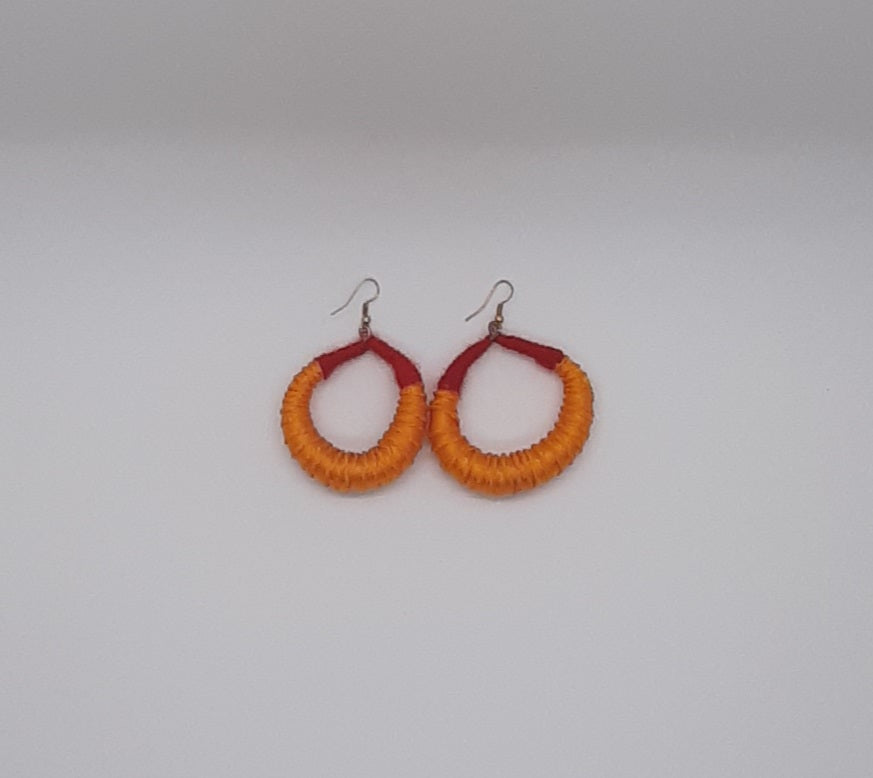 Silk Strand Fulani Earrings