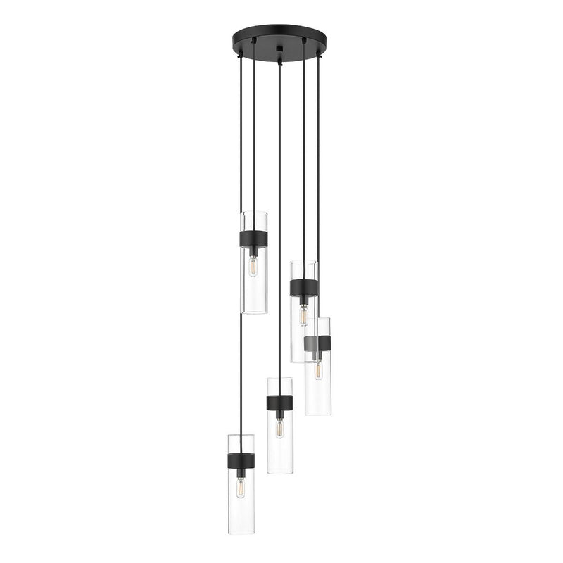 Ove Decors Bennett 5-Light Pendant in Black
